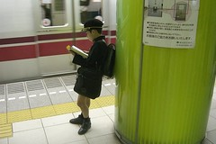 JappoKiD (Emanuele Colombo) Tags: poverty childhood japan train underground tokyo book kid child metro poor tube libro read treno metropolitana giappone povert leggere bambino povero infanzia