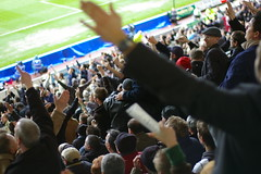 Hands in the air (JonHall) Tags: football fulham derby premiership fulhamfc pridepark derbycountyfc derbycountyvsfulham20080329
