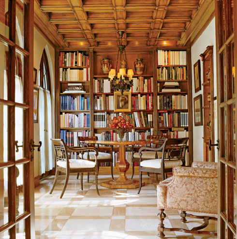 Interior Design : Library the Heart of the House
