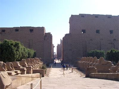 Primer pilono, templo de Karnak, Egipto