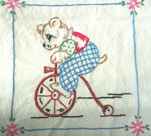 Circus Bear Embroidery