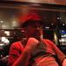 Diarmaid wearing Ian's hat