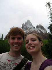 tammy and ian in front of everest at Animal Kingdom