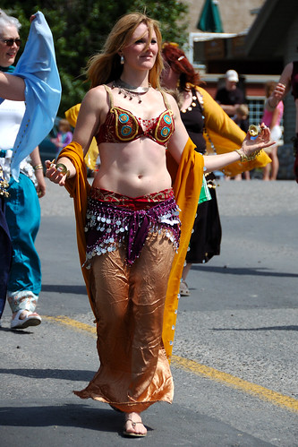 Belly Dancer performing at Invermere Canada Day Parade