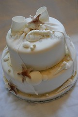 Shells (Bettys Sugar Dreams) Tags: cake weddingcake hamburg shell hochzeitstorte schleife muscheln seestern hochzeitstorten bettyssugardreams sugardreams sugardreamsde
