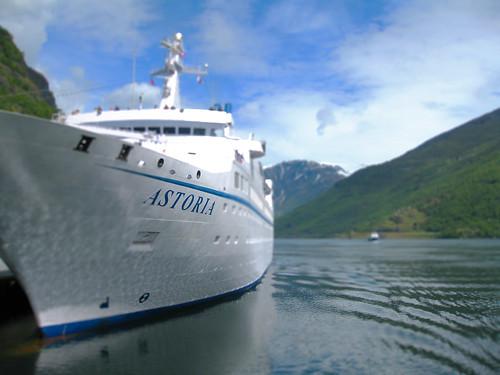 Miniature Ferry in Norwegian Fjord