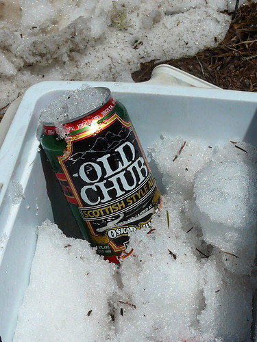 snow-chilled beer