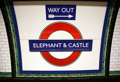 Elephant & Castle Underground Station (greenwood100) Tags: urban london underground metro transport tube tiles development southwark regeneration roundel elephantandcastle londontube150