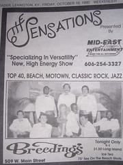 10/19/90 Advertisement For Sensations Show At Breedings (Saxmandavid) Tags: sensations gigphoto