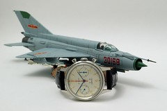 Seagull 1963 Air Force Watch / Chinese J-7 Fighter (cnmark) Tags: macro up closeup fighter force close seagull air watch chinese jet explore shenyang chronograph 1963 uhr f7 reissue armbanduhr j7 explored allrightsreserved