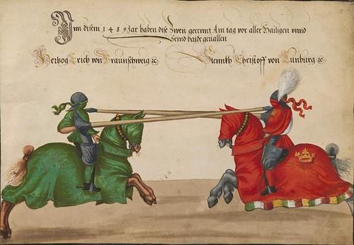 01- Torneo celebrado por el emperador Frederick III.   y su hijo Maximiliano, Linz 1489-1490, 2r