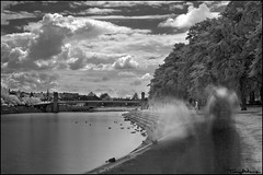 ghosts (vcrimson) Tags: nottingham england bw water river landscape ir surreal victoria infrared ghosts embankment rivertrent