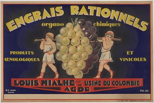Engrais rationnels. Organo chimiques. Produits oenologiques et vinicoles  - french print advertisement (1910 - 1940)