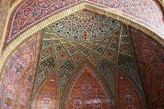 Nasir-ol-Molk Mosque (**El-Len**) Tags: travel tile iran 19thcentury persia ceiling shiraz tilework qajar