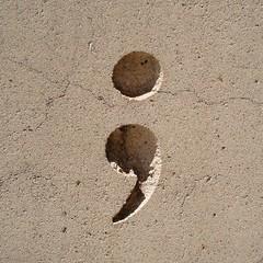 stone semicolon