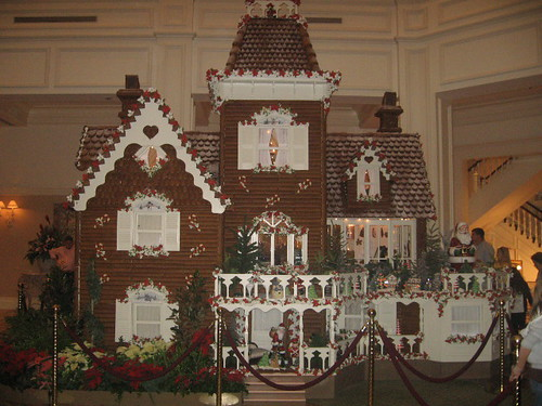 The gingerbread house at the Grand Floridian Resort