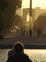 View from the Tuileries to the Obelisk and the Arc de Triomphe (dutchveryess) Tags: paris arcdetriomphe placedelaconcorde
