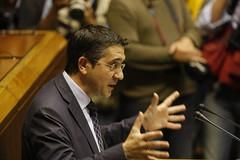 Patxi Lopez en el Parlamento