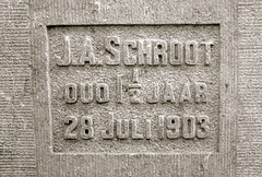 First stone laid by J.A. Schroot (age 1) on July 28, 1903 (Michiel2005) Tags: nederland denhaag steen sgravenhage eerstesteen jaschroot 28july1903