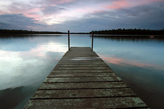Woman Lake (Bo Darville) Tags: sunset lake water minnesota night clouds pier dock cloudy dusk aftertherain hackensack cloudynight womanlake regionwide