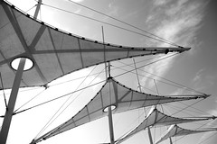 Sail type Awnings (grahambrown1965) Tags: blackandwhite awning pentax sails sail getty 1855mm istds awnings gettyimages pentaxistds aplusphoto anythingdigital smcpda1855mmf3556al artinbw thatsbostin justpentax flickrestrellas bestminimalshot gettyimagesandtheflickrcollection