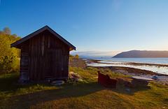 (Kjell Arne Thomassen) Tags: summer sommer natur himmel alta stein natt bt fjell fjre sj naust nornorway