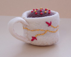 Hermione's Tea Cup Mini Pin Cushion