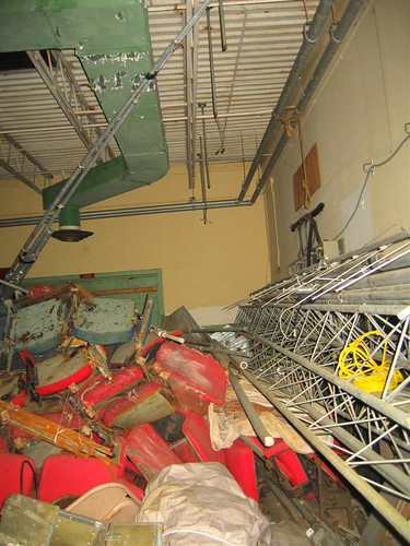 Debris in the well ventilated building