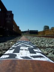 writing the rails (jerm IX) Tags: railroad streetart art vancouver 9 trains guessed ix guesswherevancouver 9ine ninja9ine jerm9ine cascadingconfessionfragment pointphotocat62 jermix ninjaix