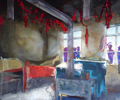 Chew the grits (whalecrow) Tags: painting drawing contemporaryart figurative andyfoulds whalecrow tomdefreston