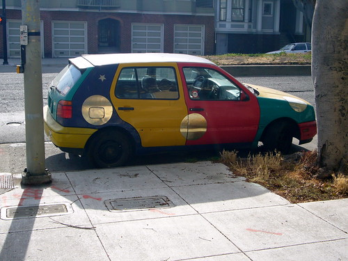 mutilcolored volkswagen