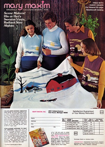 1976 Mary Maxim yarn ad