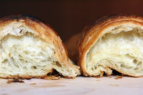 cross-section of 2 croissants