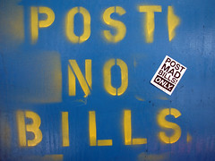 Post No Bills / Post Mad Bills Only (a.tanski) Tags: nyc ny post bills no signage only mad