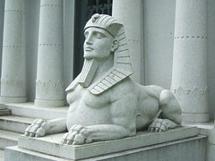 Dodge Mausoleum Sphinx (Dave Garvin) Tags: cemetery brothers detroit mausoleum dodge woodlawn mausoleums