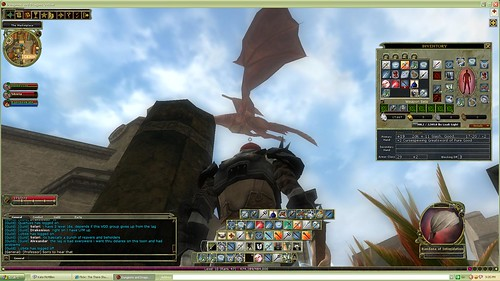 Dragon over the marketplace in DDO by Francis_7