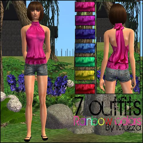 Rainbow Outfits by .:MuZza:..
