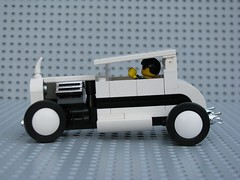 White Hotrod side