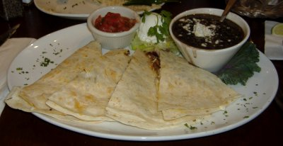 Cantina Lounge Surf and Turf Quesadilla