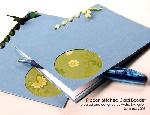 Stitched Card Booklet