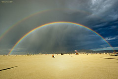 Double Rainbow (naturalturn) Tags: usa rainbow nevada burningman blackrockcity esplanade 2007 burningman2007 image:rating=5 image:id=050429