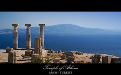 Looking Over The Aegean Sea To The Lesbos Island / Temple of Athena, Assos (2)