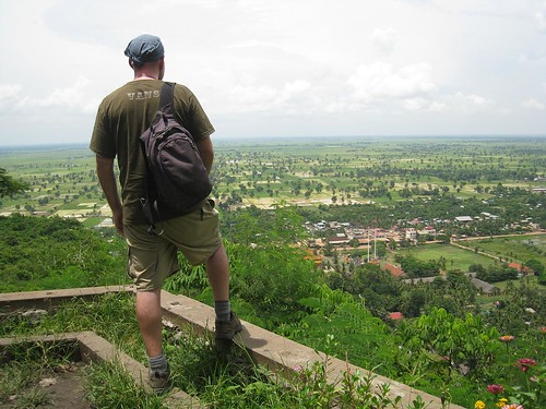 Looking out at the beautiful Cambodian countryside