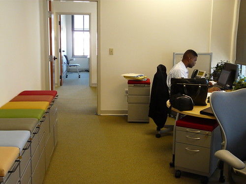 Program Manager Todd Q. Adams at work in the Connected Communities Team office space