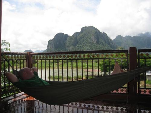 Hammock time in Vang Vieng