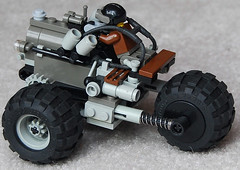 Colt Three-Wheeled Scout Diesel Combat Car Mk. V (side) (aillery) Tags: car three diesel wheeled combat colt dieselpunk painparade dieselpulp