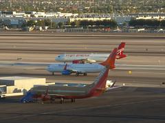 Line Up & Wait - McCarran Int'l Airport, NV  USA (gTarded) Tags: las southwest airport lasvegas airbus boeing airlines klas mccarran 737 a320 b737 virginamerica sunwings cflsw n625va n746sw