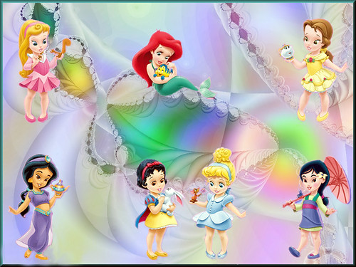 wallpaper baby disney. Princess Babies. A wallpaper