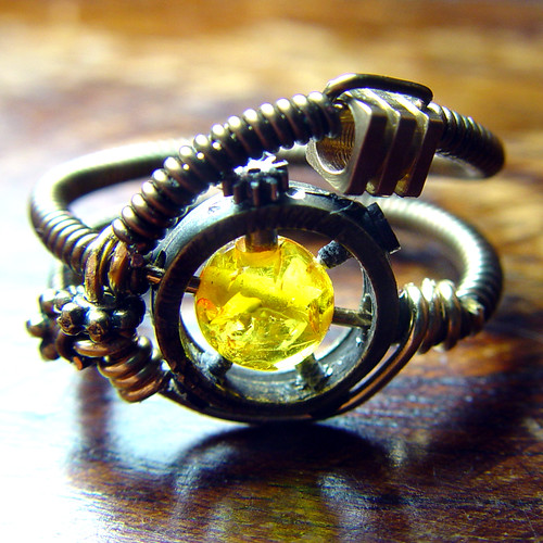 Steampunk Jewelry Ring made by CatherinetteRings