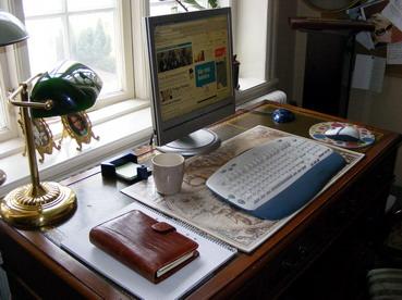 Mitt städade skrivbord
